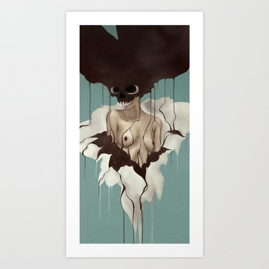 Death By Chocolate Art Print