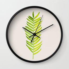 Green #society6 #decor #buyart Wall Clock