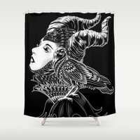 bioworkz Shower Curtains featuring Maleficent Tribute by BIOWORKZ