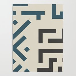African Tribal Pattern No. 58 Poster
