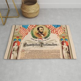 1863 Emancipation Proclamation by President Abraham Lincoln Rug