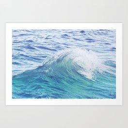 Sea Wave Minimal Poster Art Print