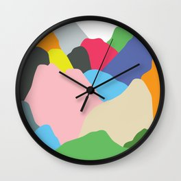 Color Mountain Wall Clock