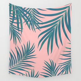 Palm Leaves Pattern Blush Vibes #1 #tropical #decor #art #society6 Wall Tapestry