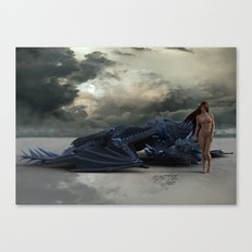 Laying Down On The Job Canvas Print