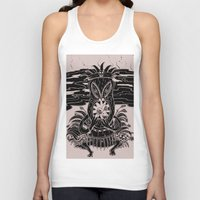 tiki Tank Tops featuring Tiki lunch by CHAUCHE