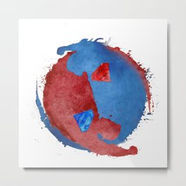 supervalor yinyang Metal Print