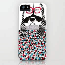Hipster dog  iPhone Case