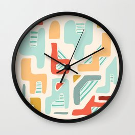 Water Reserve Abstract Illustration Wall Clock