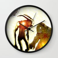 monsters Wall Clocks featuring Monsters by Ganech joe