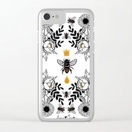 Queen Bee Clear iPhone Case