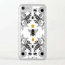 Queen Bee Clear iPhone Case