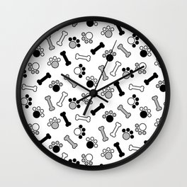 Paws and Bones Wall Clock