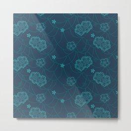 Sakura blue Metal Print
