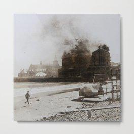 September 12, 1900 Fire at Narragansett Towers, Casino, & Rockingham Hotel Metal Print