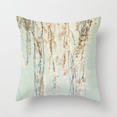 Old Town Blossoms Throw Pillow
