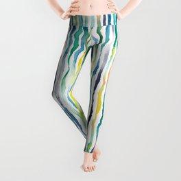 Ocean Zebra Chevron Leggings