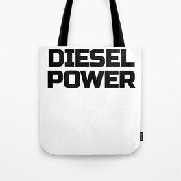 Diesel Power Diesels Roll Coal Roll Coal Trucker 4X4 Black Tote Bag