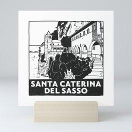 Santa Caterina del Sasso, Lago Maggiore, Italy Mini Art Print