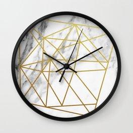 Gold geometric marble Wall Clock