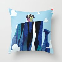 pixar Throw Pillows featuring A Pixar Adventure! by Create The Crown!
