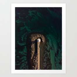 Lighthouse in the middle of the lake Art Print