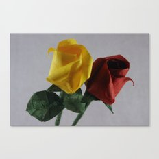 Origami Red and Yellow Roses Canvas Print