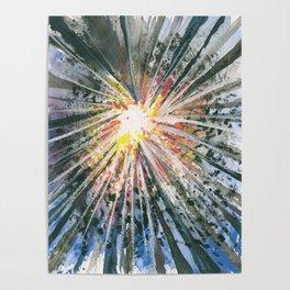 Sunlight through Forest Poster