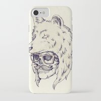 hat iPhone & iPod Cases featuring WOLF HAT by Mike Koubou