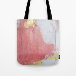 Melody: a pretty minimal abstract painting in gold pink and white by Alyssa Hamilton Art Tote Bag