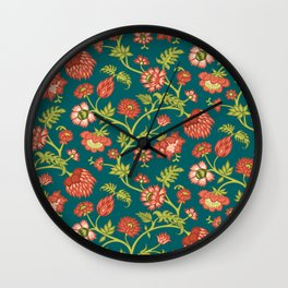 Rococo Floral Pattern #3 Wall Clock