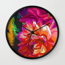 Floral Impact Wall Clock