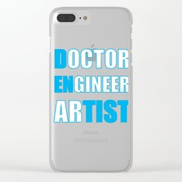 Dentist Doctor ENgineer arTIST Dental Fun Clear iPhone Case