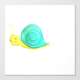 snail baby Canvas Print