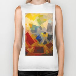 Otto Freundlich Komposition 1939 Mid Century Modern Abstract Colorful Geometric Painting Pattern Art Biker Tank