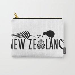 New Zealand Icons - Maori Kiwi Fern Rugby Carry-All Pouch