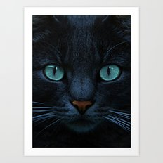 eyes of blue Art Print