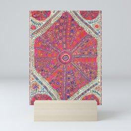 Large Medallion Suzani  Antique Uzbekistan Embroidery Print Mini Art Print