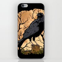 crow iPhone & iPod Skins featuring Crow by Murat Sünger