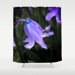 Bluebell Bling Shower Curtain