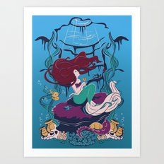 A Mermaid's Wish Art Print