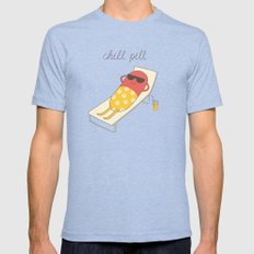 chill pill Tri-Blue 2X-LARGE Mens Fitted Tee