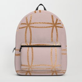 Glowing desires rose gold blush Backpack