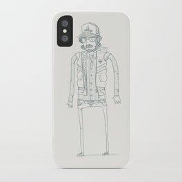 Wood, Meat, Fish and Facial hair iPhone Case