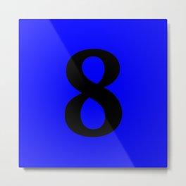 8 (BLACK & BLUE NUMBERS) Metal Print