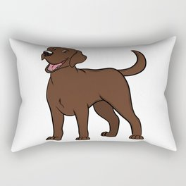 Happy Chocolate Lab Rectangular Pillow