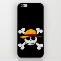 luffy iPhone & iPod Skins featuring Jack Luffy by le.duc