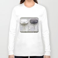 the wire Long Sleeve T-shirts featuring Wire Covers by Ethna Gillespie
