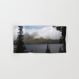 Snow Capped Mountains and Lake Hand & Bath Towel