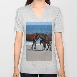 Beach Horses 2 Unisex V-Neck
